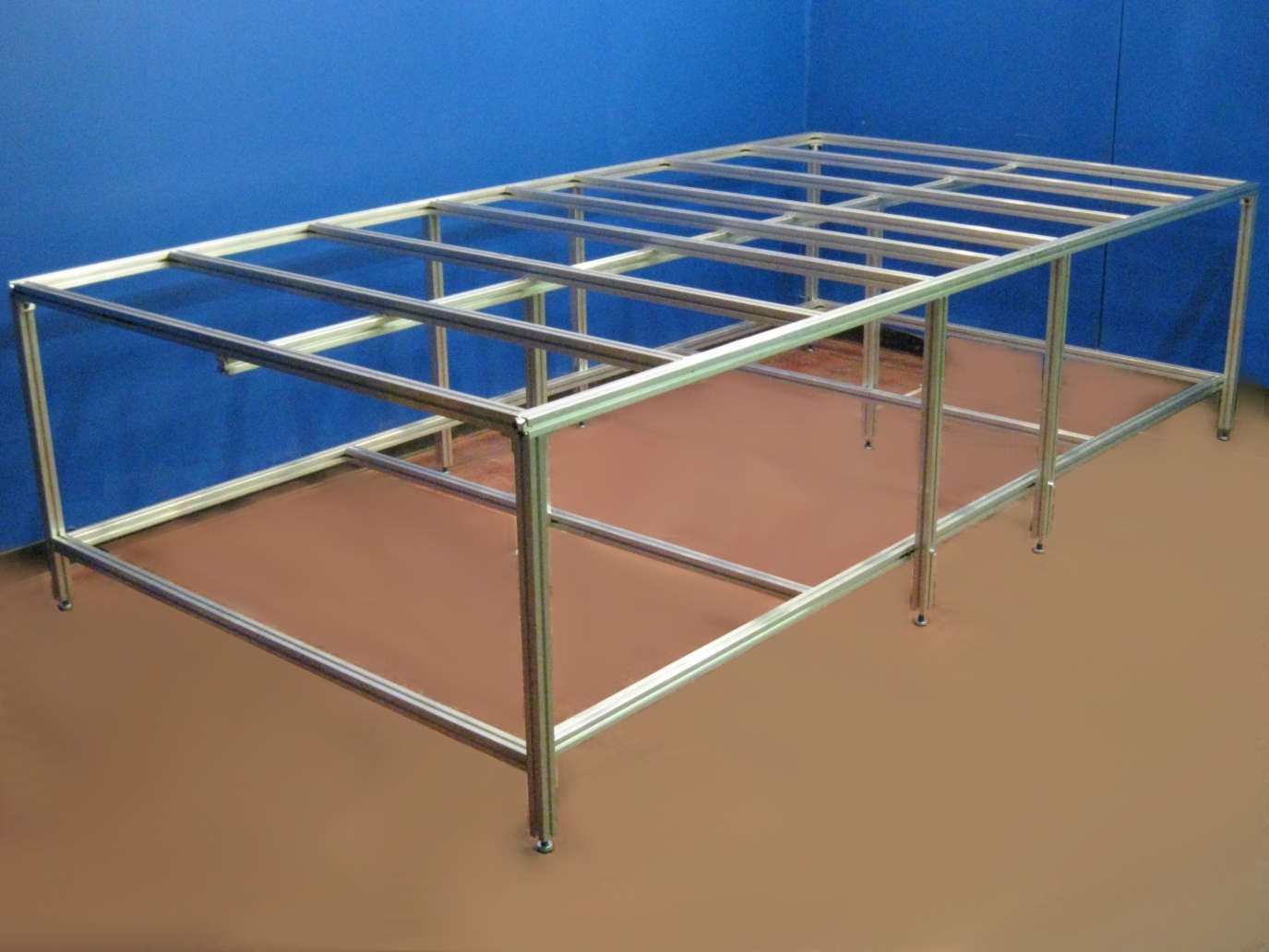 Aluminum table stand for vacuum frame press