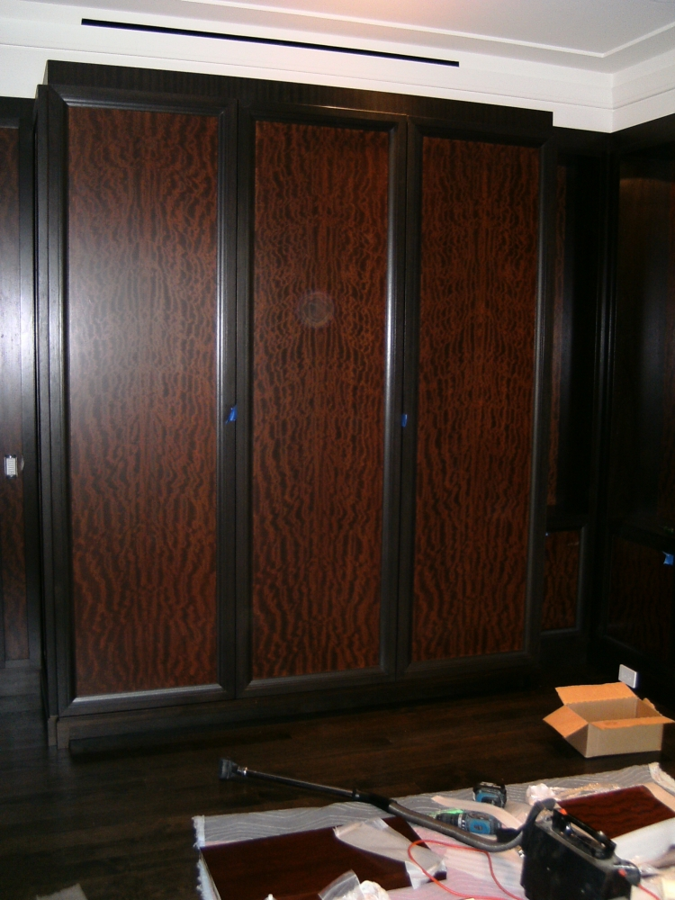 Veneered Entertainment Center by Matthew Ailes of Benchmade Woodworking