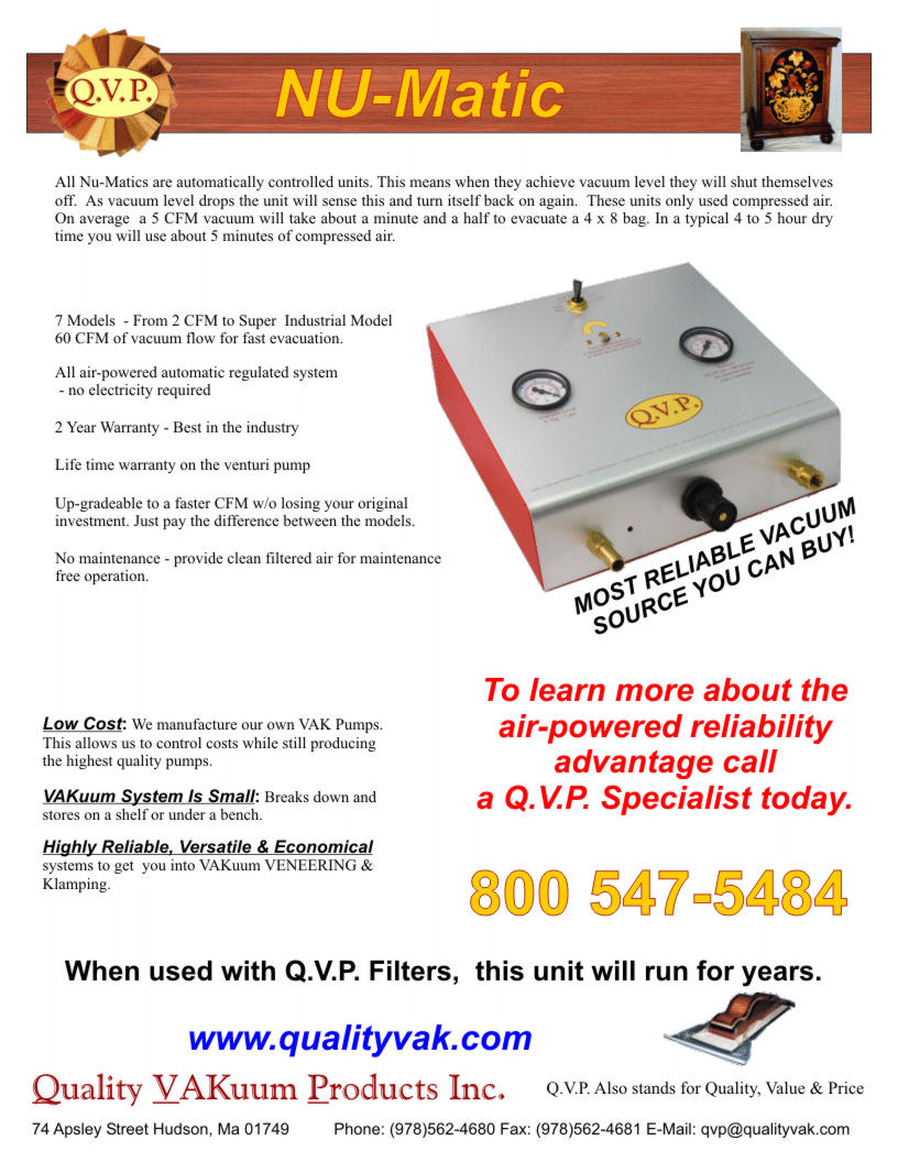 Quality VAKuum Products Brochure Page 4