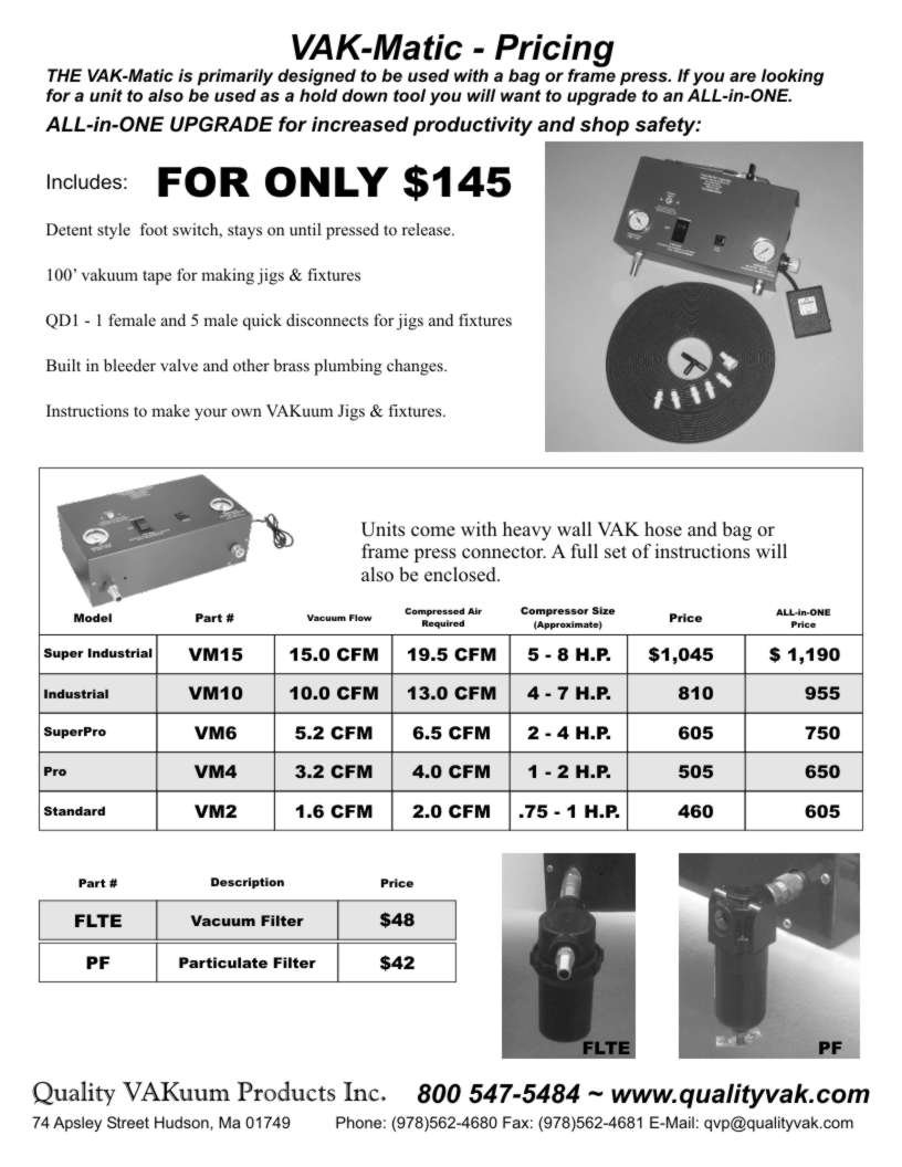 Quality VAKuum Products Brochure Page 7