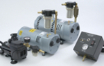 Electric vacuum pumps for veenering and laminating