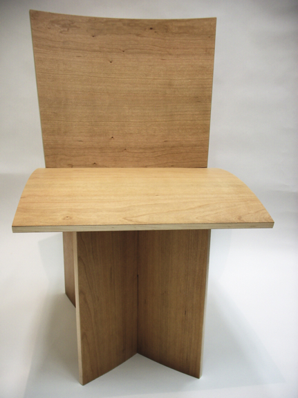 Curved veneered chair Lincoln East hight School