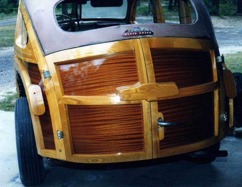 Veneered Chrysler fluid drive by Nickels Automtive Woodworking