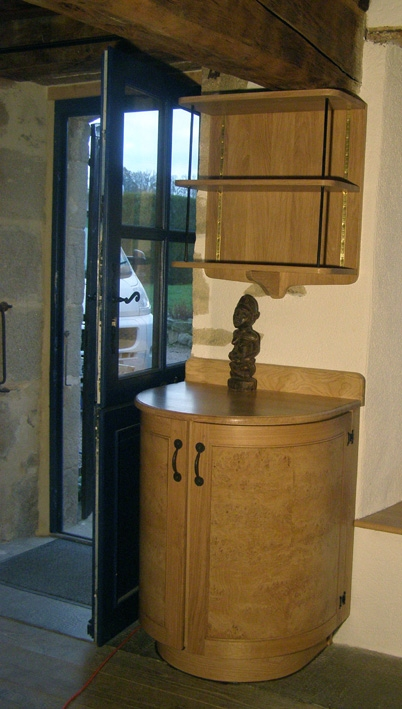 curved cabinet by pete bennet