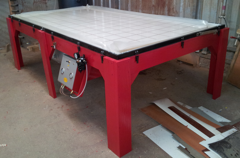 Vacuum Frame Press Table and NU-Matic - By Pedro Hernandez