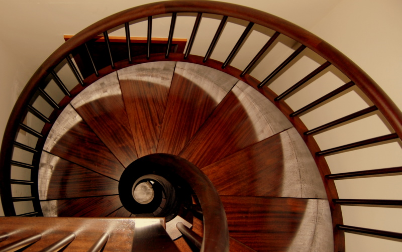 Curved Stair Case by Schwall and Sons