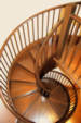 Curved staircase by Schwall and Sons woodworking
