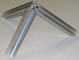 Structural aluminum close up