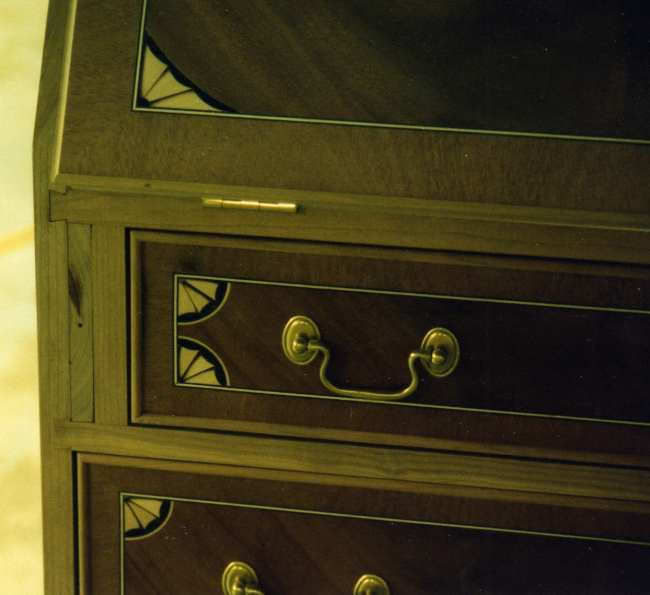 Veneered secretary by Tom Newman